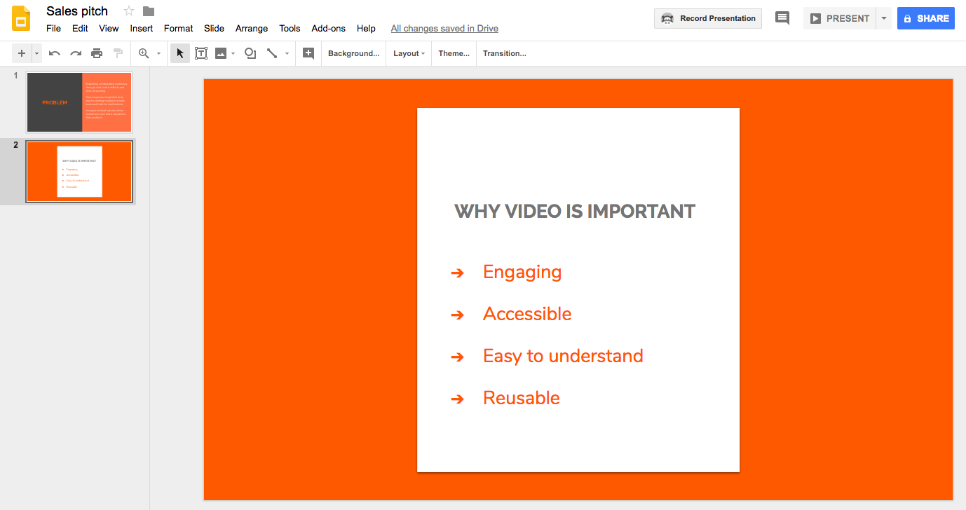 video presentation, video presentation software, online video presentation maker, google slides video